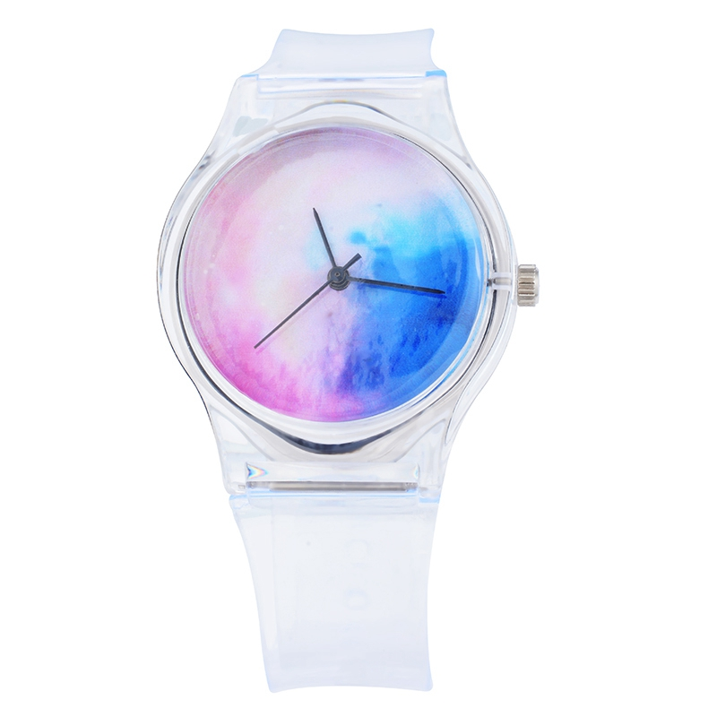 Transparent Clock Silicone Watch Women Sport Casual Quartz Wristwatches Novelty Crystal Ladies Watches Cartoon Reloj Mujer 2019 And To Have A Long Life. Watches