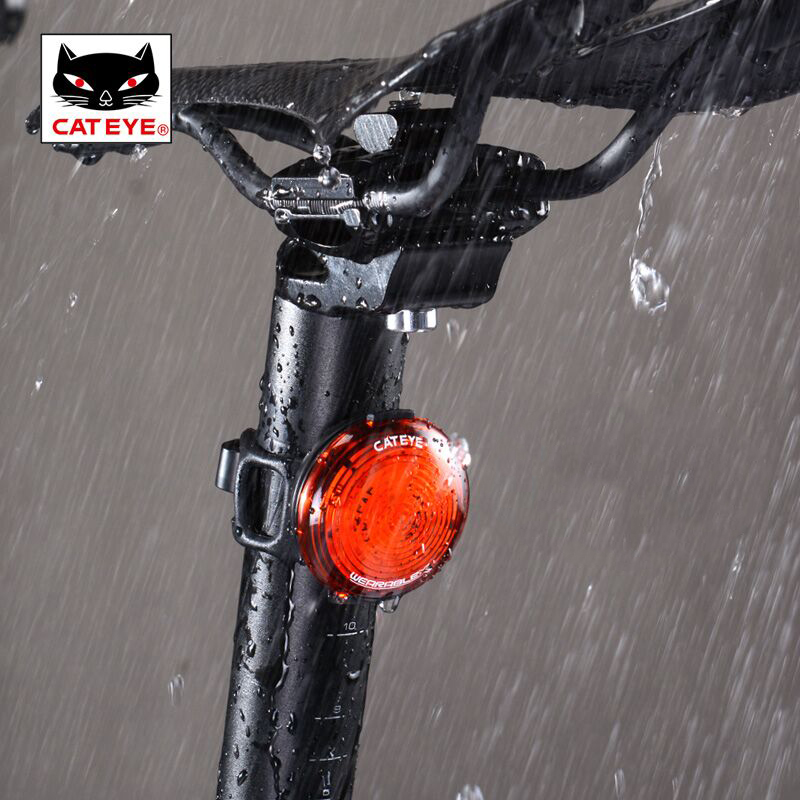 CATEYE WEARABLE X Cycling Tail Rear Light Bicycle Safety Taillight USB Rechargeable Waterproof Seatpost Bag Warning Lights solar energy usb rechargeable 2 in 1 bicycle safety warning lamp cycling bike led front light waterproof headlight black white