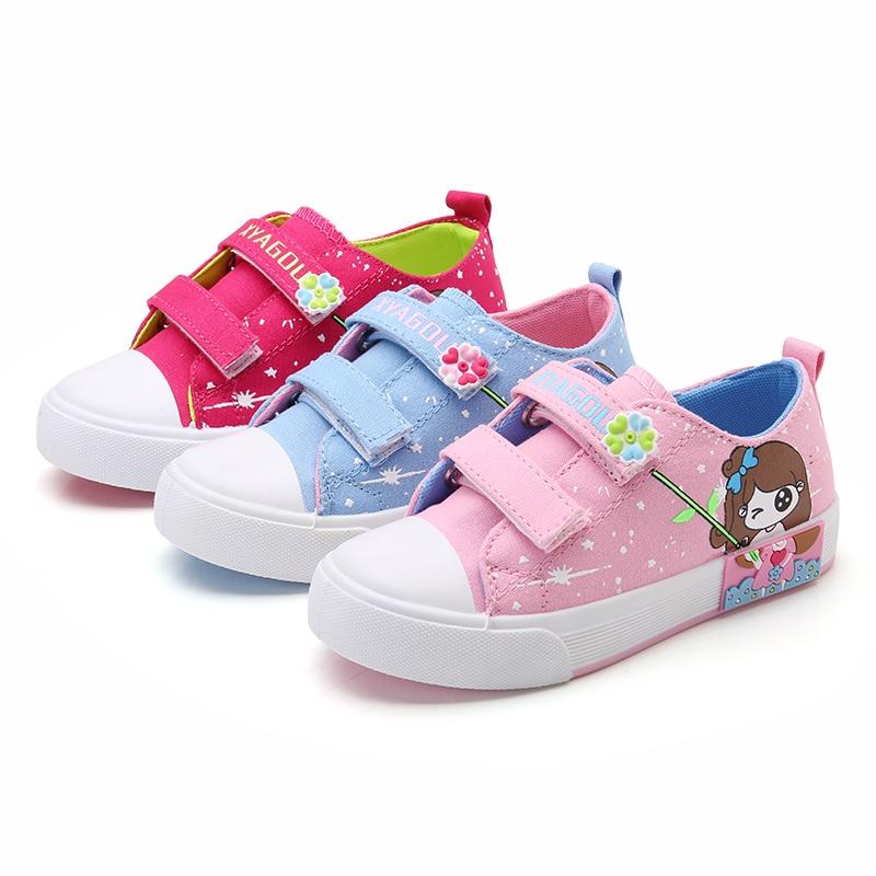 2017 Canvas Børn Sko pige prinsesse sko anti-glat mærke børn sko piger baby jeans denim flad støvler kids sneakers