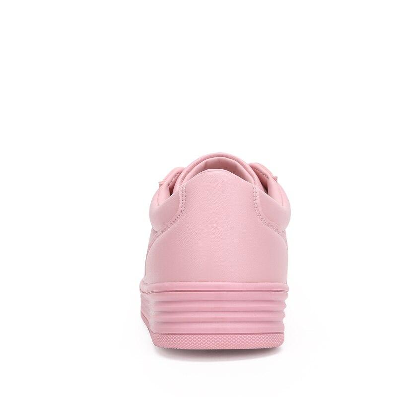 Koreanische Plain Krawatte Für Farbe Frauen Schuhe Freizeitschuhe Weiße Mit Pink Kleine Sport Bord Wohnungen white Candy Frühling black Schuh Einfache Student If8w67Bx