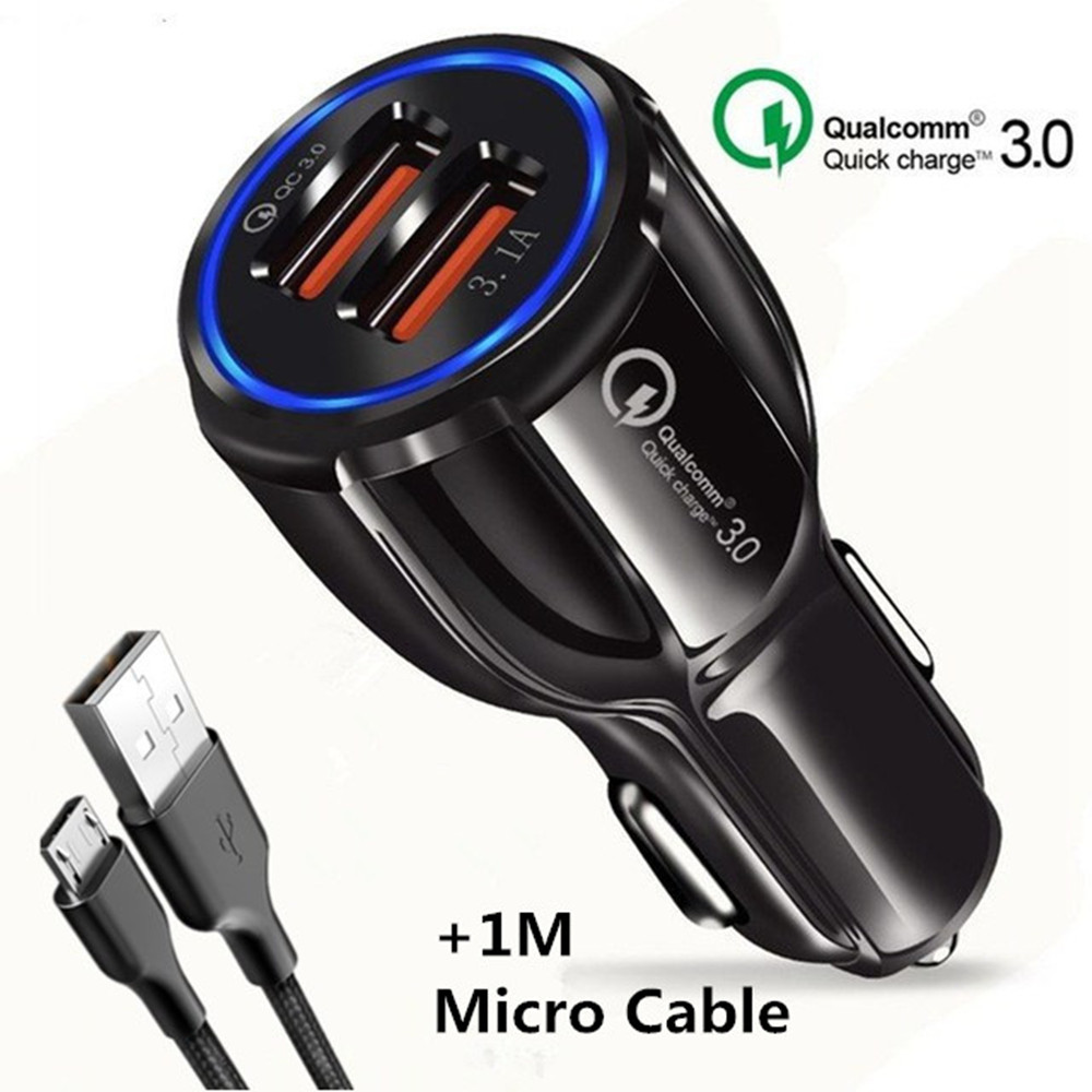 XEDAIN Usb-Car-Charger Phone-Charging-Cable 2-Port Xiaomi Samsung For IPhone