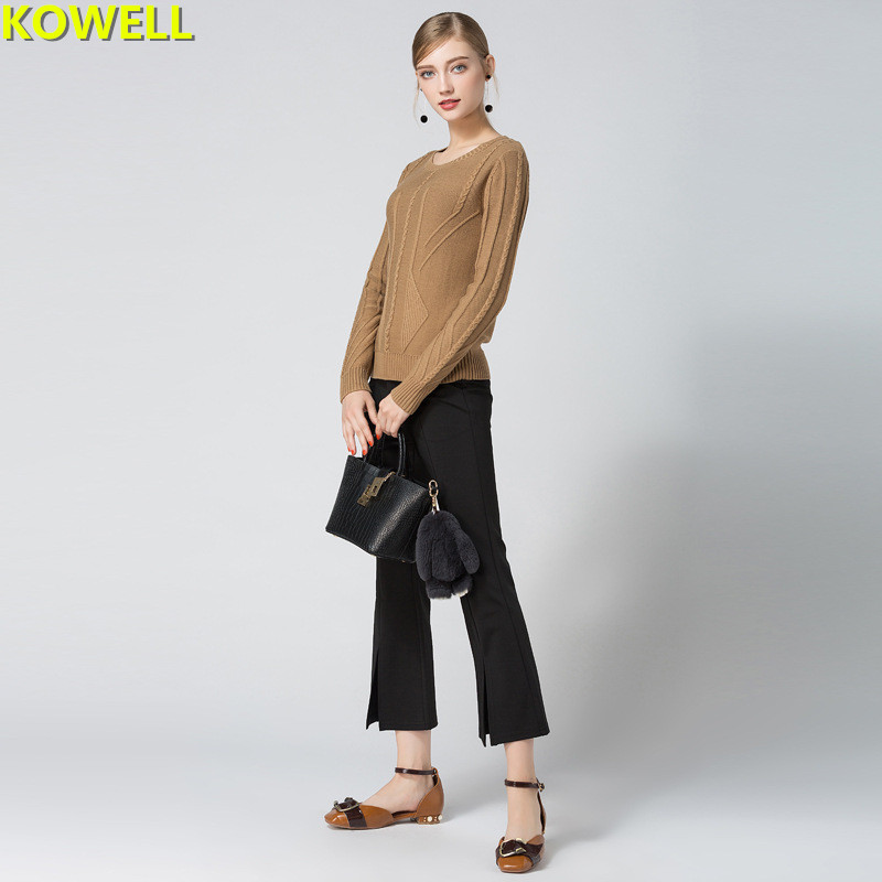 Hot Sale 2018 Spring Summer Womens Clothing Jumper Sweater Knitted Pullovers Loose Full Sleeve O-Neck Solid Color Woman Tops
