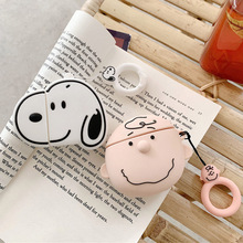 3D Earphone Cases For AirPods Case Silicone Cute Cartoon Dog Totoro Cover Apple Airpods 2 Funny for Earpods Ring Strap