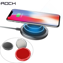 ROCK W4 QI Quick Wireless Charger,10W 9v Fast Charging Pad For iPhone X 8 Plus phone charger For Samsung Galaxy S8 Plus Note 8