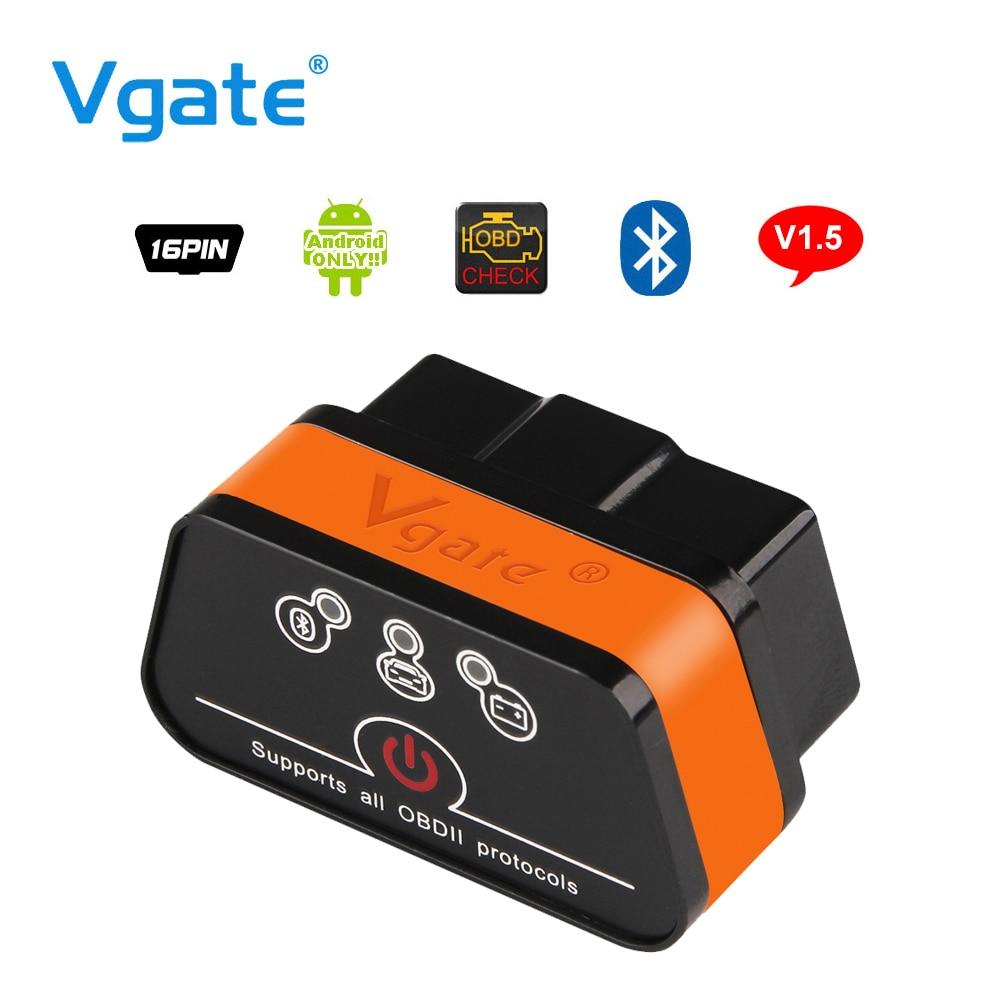 Vgate iCar2 ELM327 OBD2 Bluetooth Adattatore OBD 2 Auto Diagnostico Strumento Scanner ELM 327 V2.1 Diagnostico-Tool Per Android PC