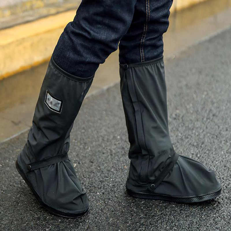 High Top Waterproof Shoes Covers For Shoes Motorcycle Cycling Bike Rain Boot Rain Cover for Shoes In Creek Rainy Snowing