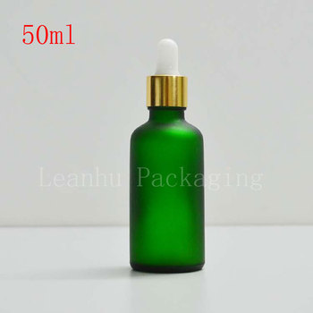 50mlX14 Green Glass Dropper Bottle,50cc Essential Oil/Perfume Packaging Bottle,Empty Cosmetic Contianer ,Makeup Sub-bottling