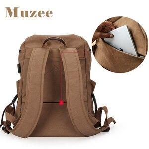 Image 5 - Muzee sac à dos en toile pour hommes, sacoche pour livres pour étudiants, grande capacité, sac à dos de voyage à la mode, Mochila mâle, nouvelle collection