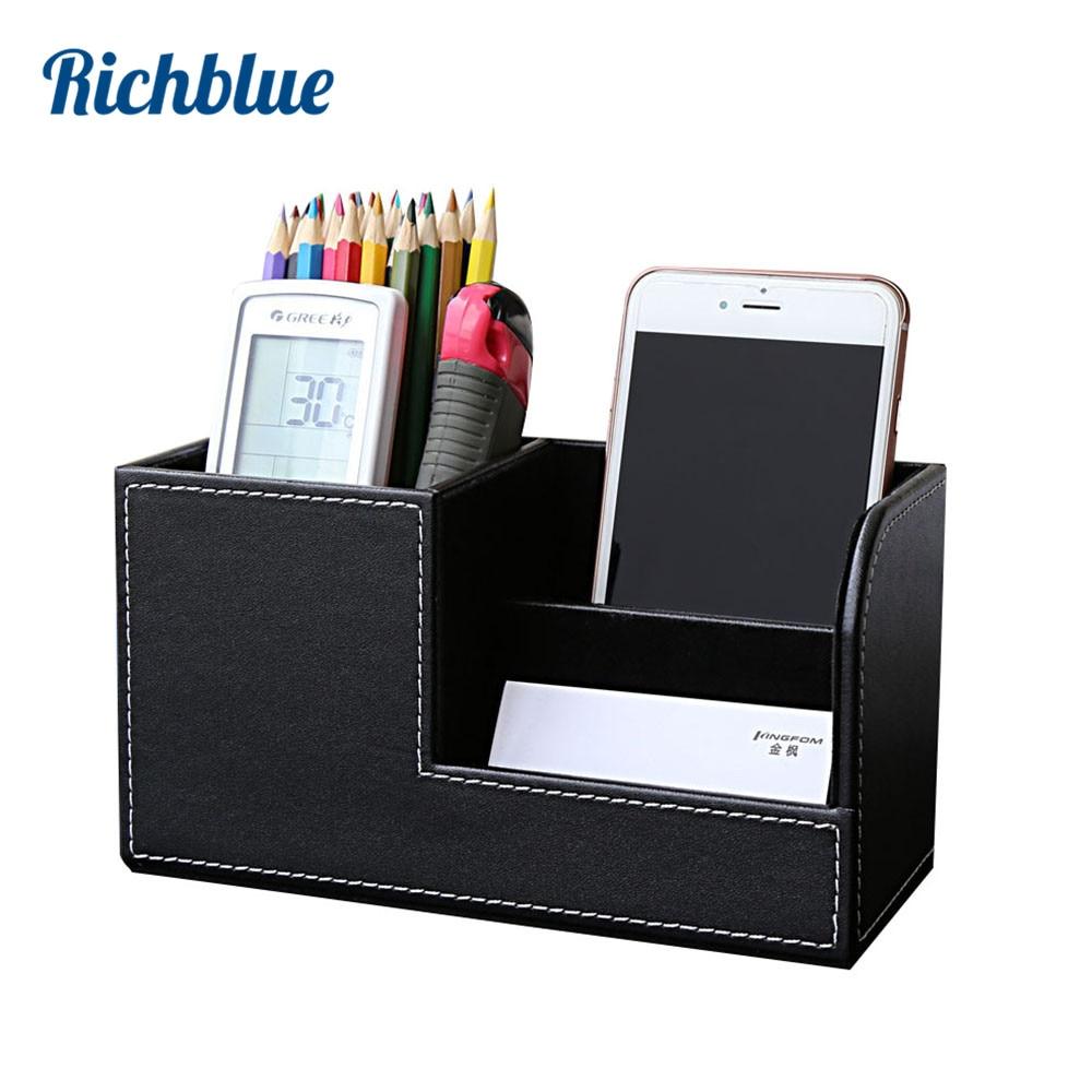 HHH Briefpapier Aluminium Stifthalter B/üro Bleistift Stifthalter Desktop Desktop-Plug-in Storage Box Studenten Geschenk Stifthalter