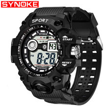 SYNOKE New Boys Students Sports Watch Led Digital Waterproof Wristwatch Luminous Kids Clocks Gifts relogio relogio masculino #a(China)