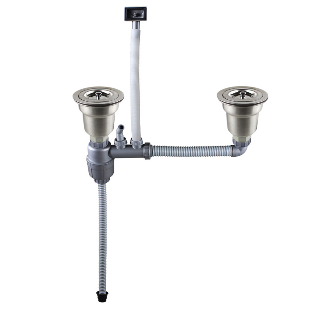 Talea Dauble sinks Vertical type with overflow drain kit Sink Drain Pipe Sink strainer hose