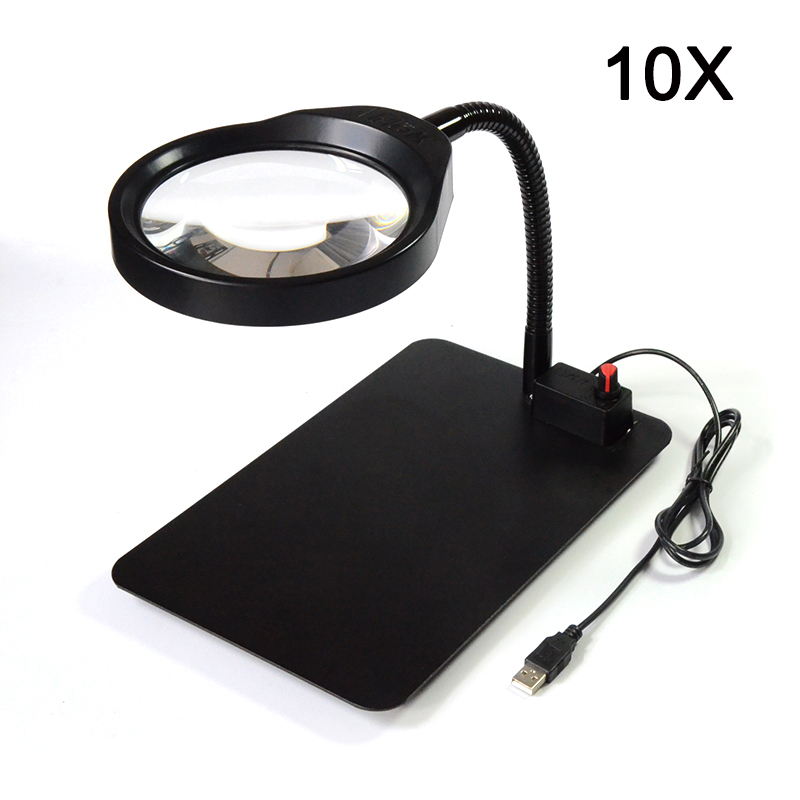 36 LED Light Magnifier & Desk Lamp Helping Desktop Magnifying Tool Desktop Magnifier with usb 10X new universal desktop magnifier usb with led light 10x for maintenance reading micro engraving magnifying glass