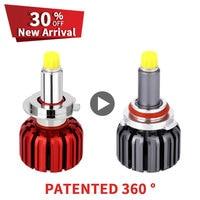 NEW PATENTED LED Headlight Kit Turbine Fan 12V LED H7 360 Degree 6000K H1 H3 H8 H9 H11 HB3 HB4 H27 HIR2 LED Car Light Lamp Bulbs