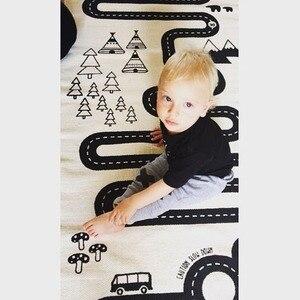 Image 3 - Gioco del bambino Zerbino Morbido Strisciare Tappeti Pista Auto modello di Puzzle del Giocattolo di Apprendimento Stile Nordico Camera Dei Bambini Decorazione del Pavimento Tappeto