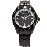 AGENTX Mens Watches Top Brand Luxury Men Sport Wrist Watches Black Stainless Steel Men Quartz Watch Relogio Masculino / AGX105