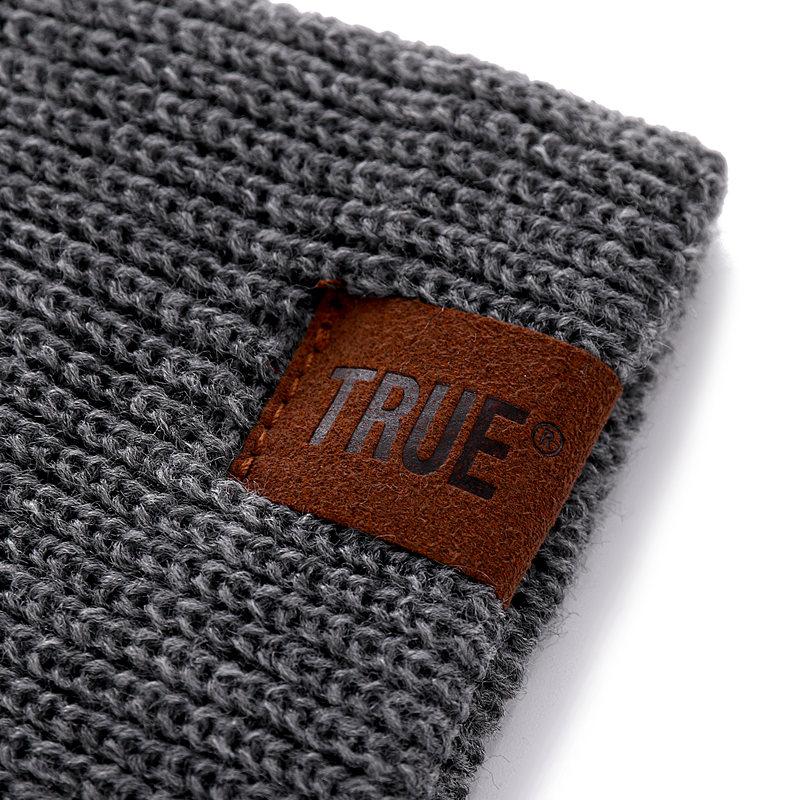 1 Pcs Hat PU Letter True Casual Beanies for Men Women Warm Knitted Winter Hat Fashion Solid Hip-hop Beanie Hat Unisex Cap 4