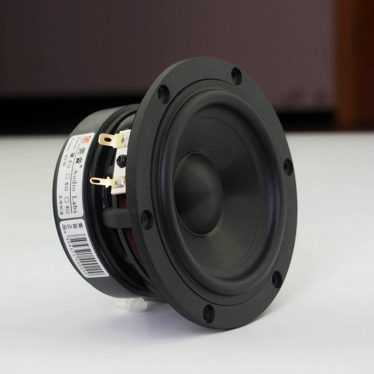 2PCS New Audio Labs 4inch Hifi Midrange Speaker Driver Ceramics Cone Casting Aluminum Frame Deep Suspension 30-50W Pair Price