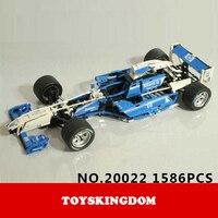 Hot Racers High Speed Championships Racing Building Block Super Sports Formula Car Model Bricks 8461 Toys