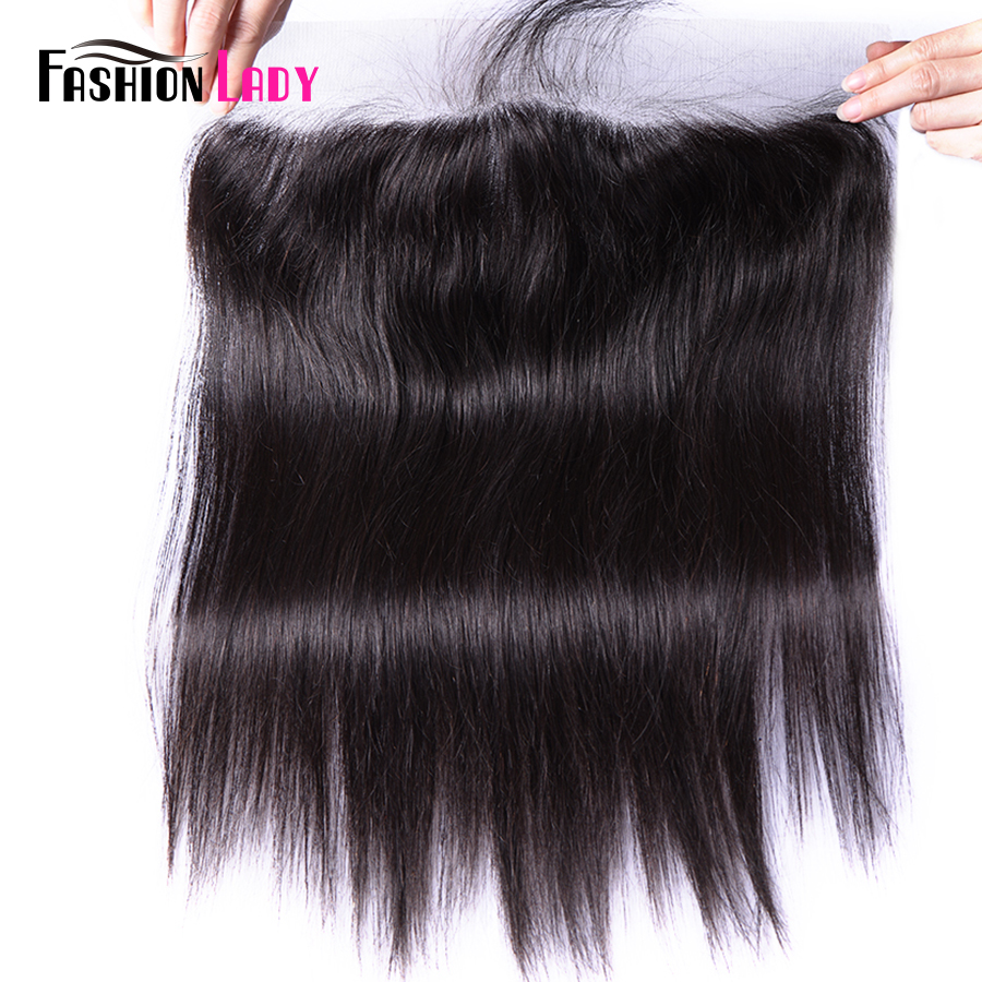 Fashion Lady REAL Silk Base Lace Frontal Closure Straight Human Remy Hair 13x4 Inch Lace Closure With Silk Based Top Closure