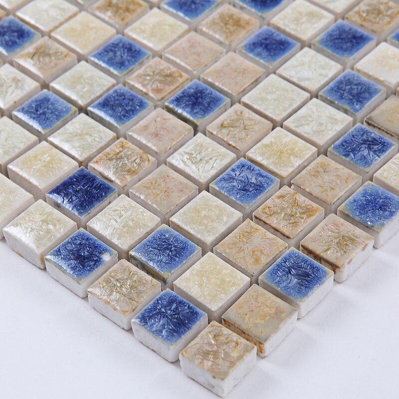 Azul blanco horno porcelana pulido baldosas de cerámica mosaico ...