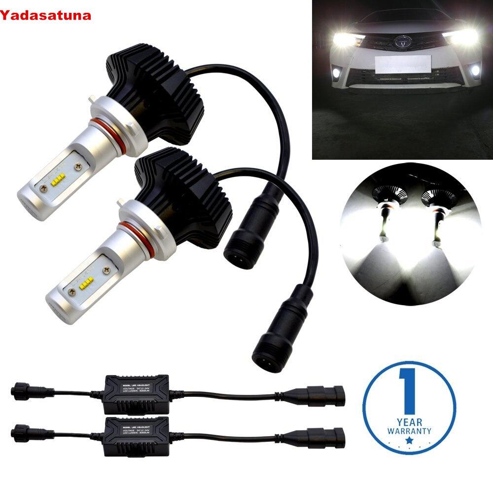 2x9005 HB3 8000 Lumens extrêmement lumineux PhilipsLumi LED ZES puce 80 W ampoule LED Kit de Conversion pour phares de voiture antibrouillard DRL
