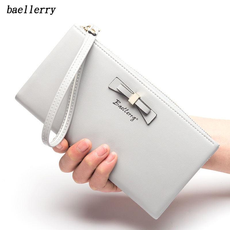 Baellerry Fashion Female Long Style wallets High quality PU Leather Women Purse Brand Capacity Wristlet Clutch Card Holder Pouch hot fashion female clutch wallets high quality purse women long style wallet famous brand capacity clutch card holder pouch blue