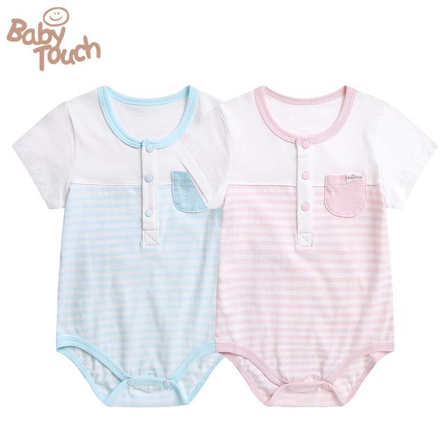 Babytouch Bebê Pijamas 100% Pijama de Algodão Do Bebê Das Meninas dos Meninos Infantil Footies Bonito Sleepwear Frete grátis