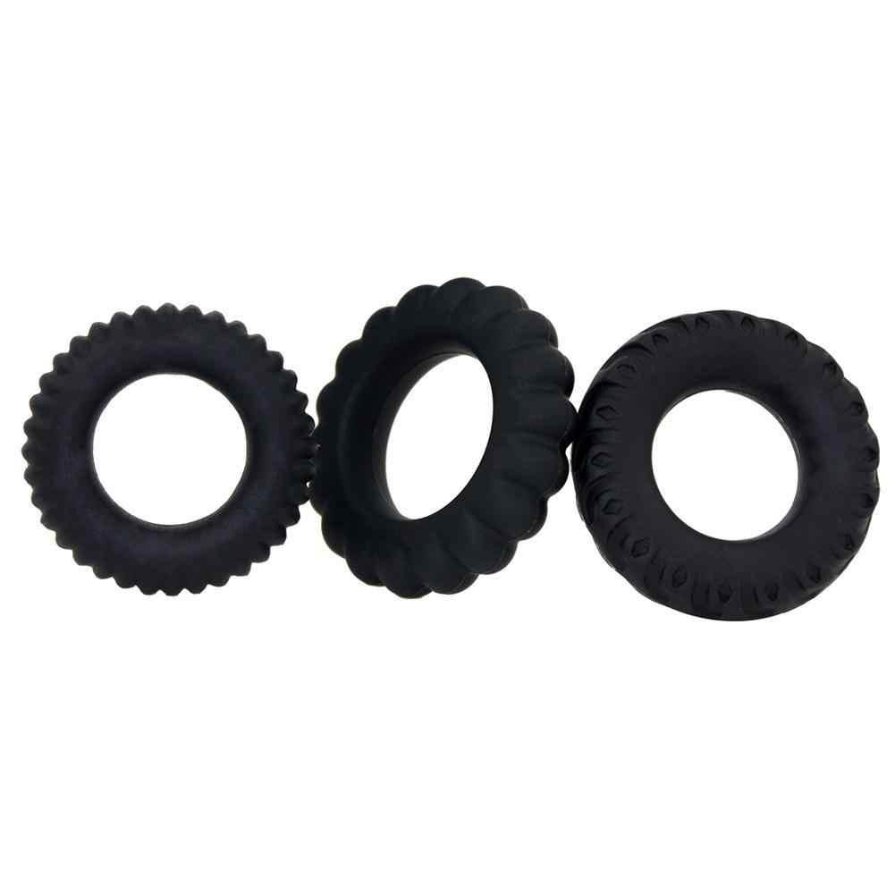 Haute qualité 4 pièces/ensemble anneaux de pénis prépuce anneau de pénis manchon d'agrandissement jouets sexuels pour hommes anneau d'extension éjaculation retardée