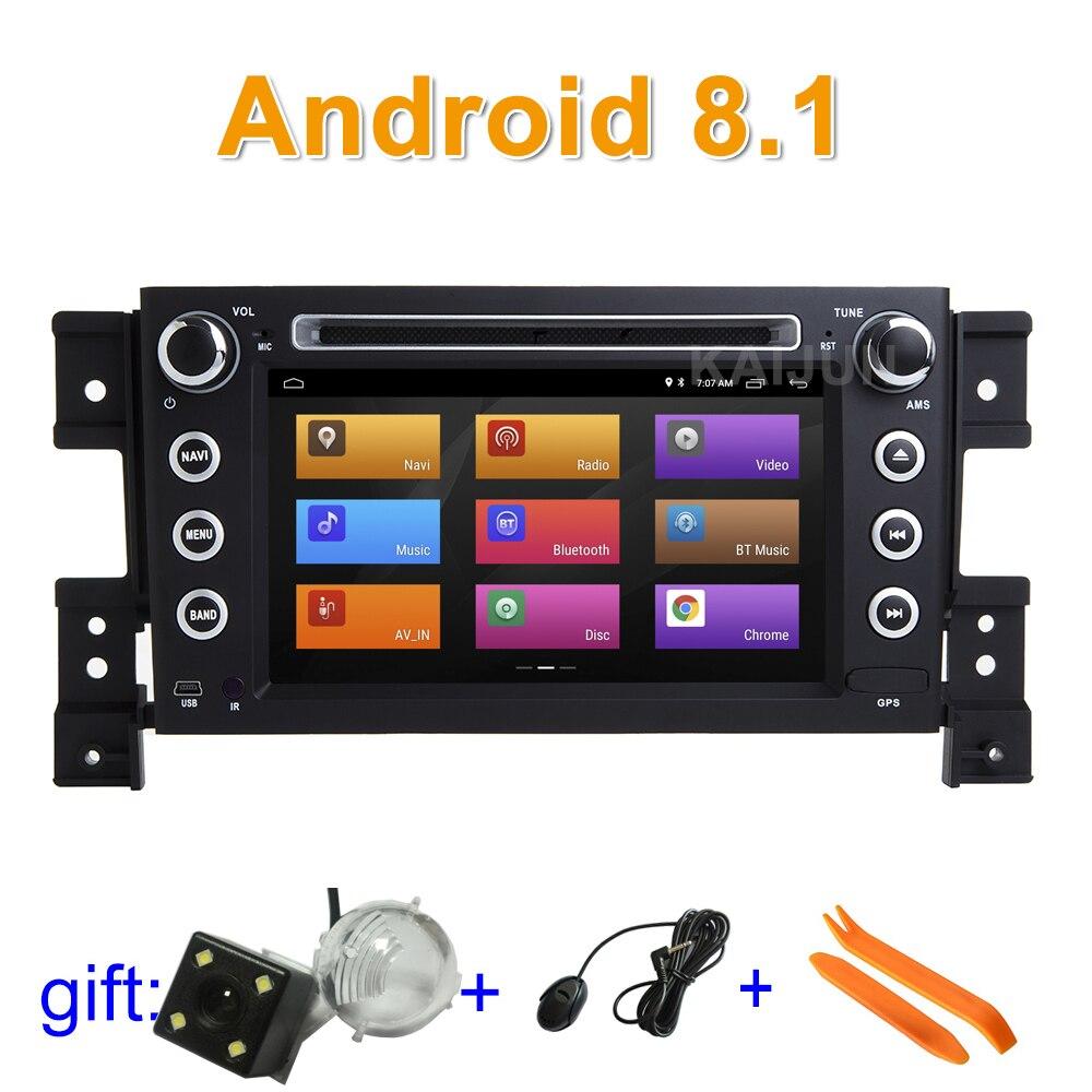 Ips экран Android 8,1 автомобильный DVD мультимедийный плеер стерео радио для Suzuki Grand Vitara с Wi Fi BT gps