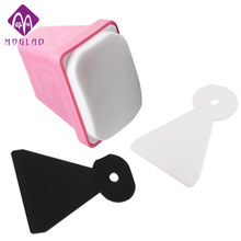 XXXL big jumbo 6*4cm nail art stamper tools 1pcs stamper with 2pcs white black scraper(China)