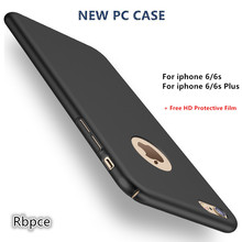 Nova moda de luxo completo da tampa do caso pc para apple iphone 6 6 s 4.7 polegadas e 6 6 s plus 5.5 polegada que casos Ultra-fino + free HD filme