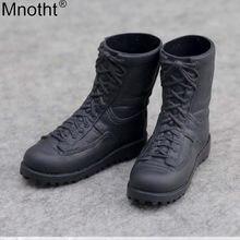 Mnotht 1/6 컴뱃 부츠 블랙 슈즈 모델 완구 남성 구두 액세서리 12in Soldier Body Doll 액션 피규어 Cllection Gift m3n