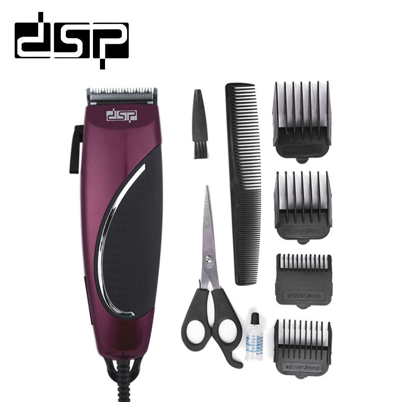 Dsp Charging Electric Hair Clippers Barber Hair Cutter Men Styling Trimmer Shaving Machine One Blade 220 240v 50hz 12w Leather Bag