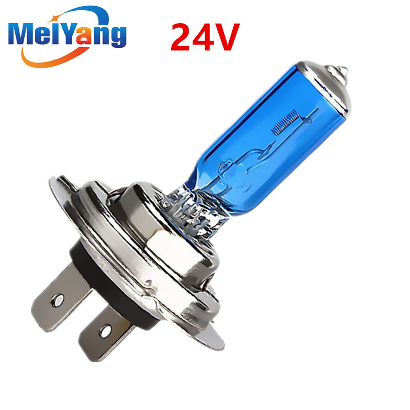 24V H7 100W Halogen Bulb Super Bright Fog Lights High Power Car Headlight Lamp Car Light Source Parking White
