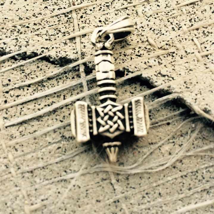Винтаж Серебро Тор подвеска с молотком славяне Викинги амулет Svarog молотки для мужчин's цепочки и ожерелья
