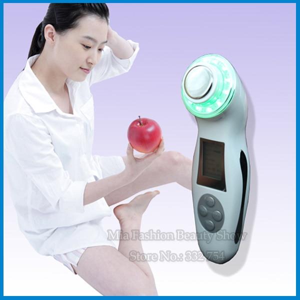 New 3Mhz Ultrasonic Ultrasound Sonic Ion Facial Skin Rejuvenation 3 LED Color Light Therapy Massage Beauty Device