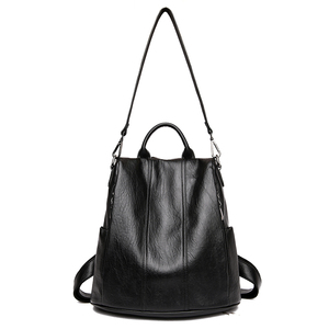 Image 2 - Fashion 2018 Women Backpack Youth Leather Vintage Backpacks for Teenage Girls Female School Bag Bagpack mochila sac a dos