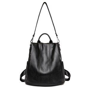 Image 2 - Moda 2018 kadın sırt çantası gençlik deri Vintage gençler için sırt çantaları kızlar kadın okul çantası sırt çantası mochila kese dos