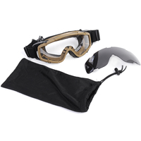FMA Airsoft Tactical Paintball Game Goggle Glasses 2pcs Of Lens For Helmet With Side Rails Motorcycle
