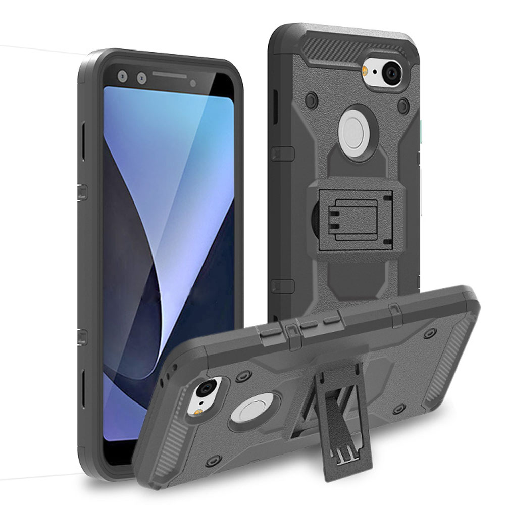 For Google Pixel 3 Case Heavy Duty Hybrid Armor Tough Case For Google Pixel 3 With Swivel Belt Clip Holster Anti Drop Back Cover