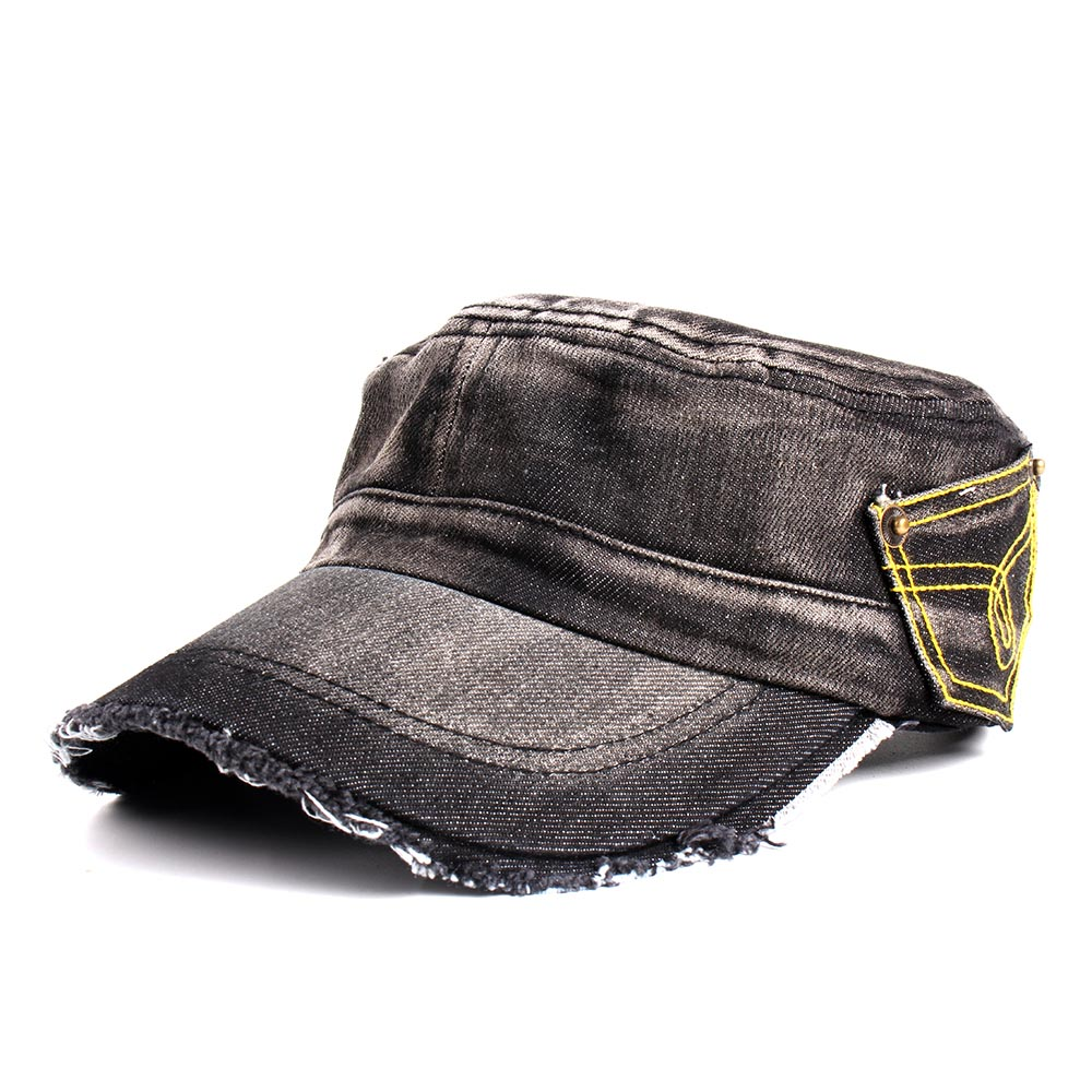 ba1dce9a03b Dropwow Difanni New Washed Jeans Army Cap For Men Women Snapback ...