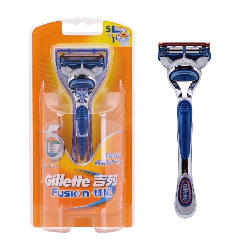 Genuine Gillette Fusion Shavers para hombres marca Razors recta (1 - Afeitado y depilación