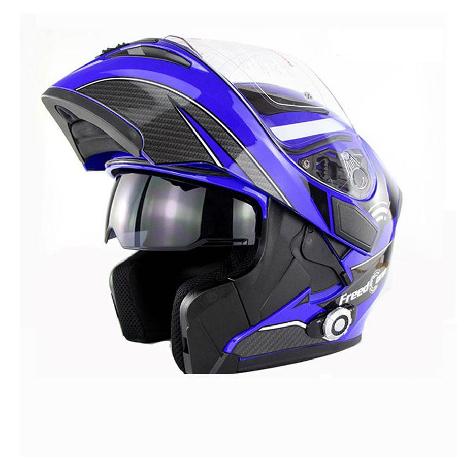 2017 Nowy Motocykl Bluetooth Kask Z Obrotem Motocykl Zbudowany w - Akcesoria motocyklowe i części - Zdjęcie 6