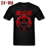 BUSHIDO T shirt For Men Tshirt Samurai Spirit Tops Tees Skull T Shirt Classic Japan Style Clothes No Fade Cotton Black Sweater