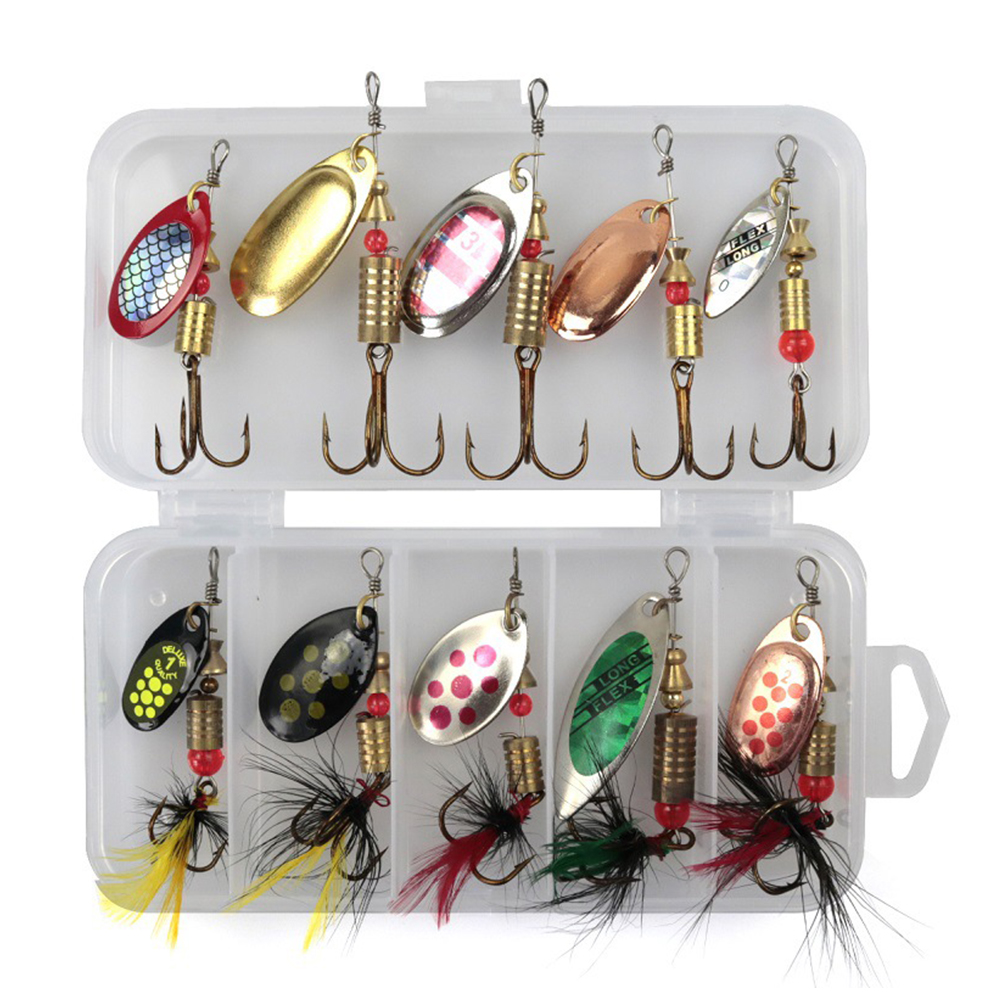 Wobbler-Tools Spinner-Bait Fishing-Lure-Accessories Metal Lakes Outdoor Attractive Mini title=