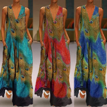 2019 Summer Sundress ZANZEA Plus Size Women Long Maxi Vestidos Bohemian Sleeveless Sarafans Dresses Elegant Printed Robe Femme