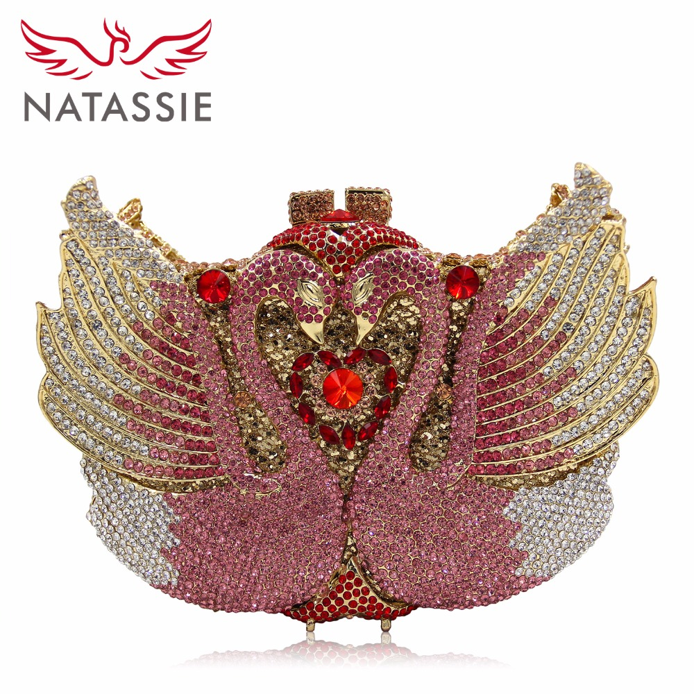 NATASSIE Women Wedding Bags Ladies Evening Clutch Bridal Bag Female Designer Party Purses luxury crystal clutch handbag women evening bag wedding party purses banquet