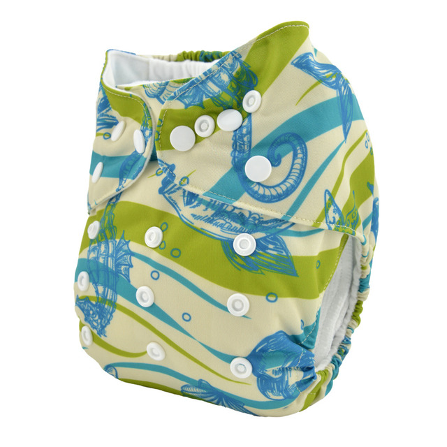 Sigzagor All In One Bamboo Baby Cloth Diaper Nappy Reusable Sewn