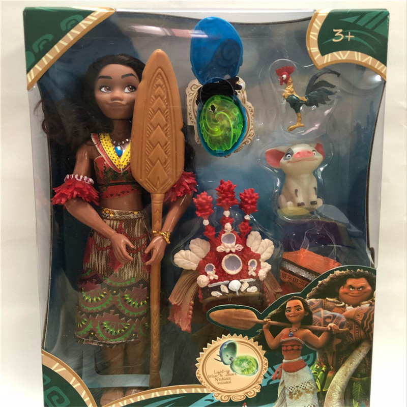 Vaiana moana Boneca moana Movie Waialiki Maui Dolls Model With Music Action Figures Kids Lover Christmas Gift Children Toys 12pcs set children kids toys gift mini figures toys little pet animal cat dog lps action figures
