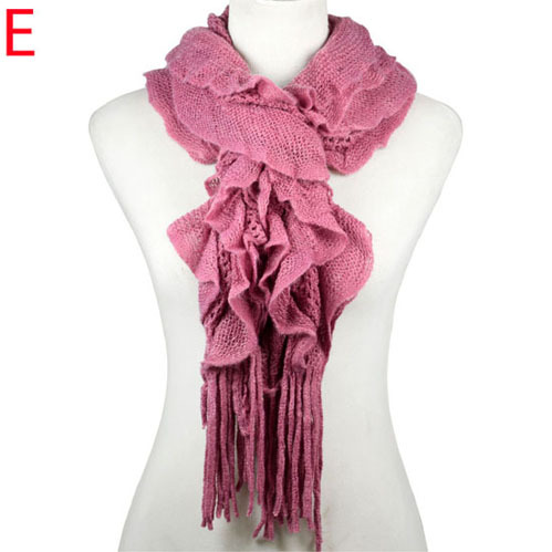 AOLOSHOW Warm Winter Woolen Yarn Thicken Knit Scarves for Women Basic Ready for DIY Jewelry Scarf for Making Basic Shawl Nl-2076